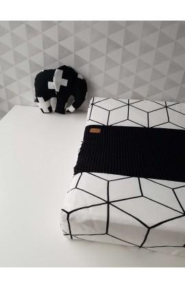 Aankleedkussenhoes Geo Wit Zwart