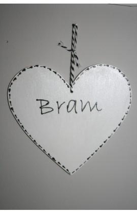 Gepersonaliseerde houten hartjes