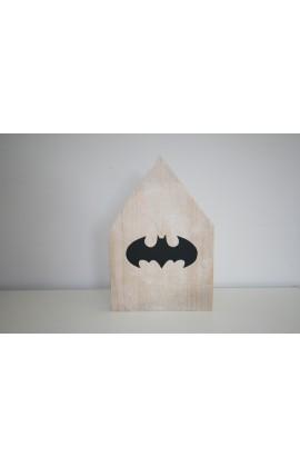 Houten huisje Batman Large