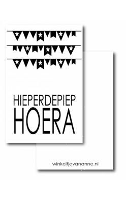 Mini kaartje Hieperdepiep Hoera
