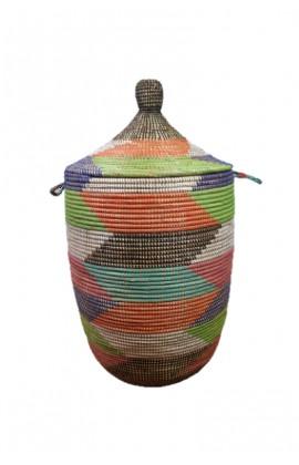 Fairtrade Wasmand uit Senegal Multicolor 75 cm