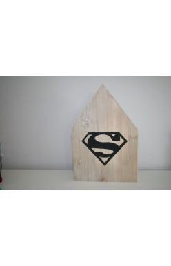 Houten huisje superman Large