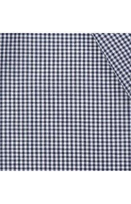 34. Katoen boerenbont donkerblauw