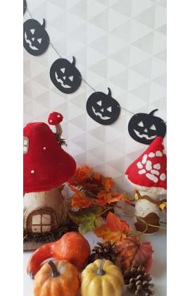 Halloween Pompoen Slinger 1.50 cm