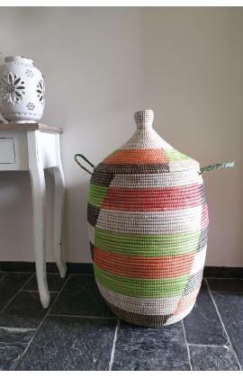 Fairtrade Wasmand uit Senegal Multicolor