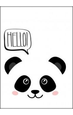 Kaart wit panda