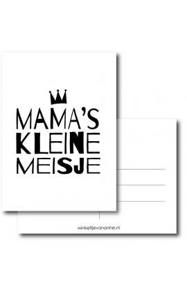 Kaart Mama's kleine meisje