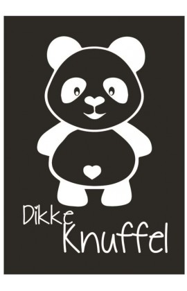 Kaart Panda Dikke Knuffel