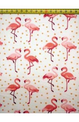 52. Katoen Flamingo Wit Roze
