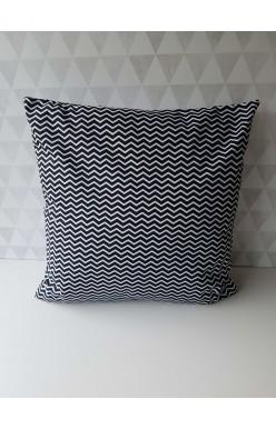 Kussen Zigzag Zwart Wit