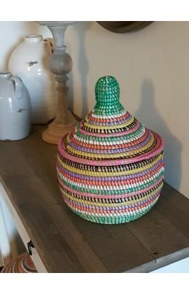 Fairtrade Mandje Small uit Senegal Multicolor