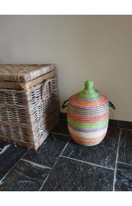 Fairtrade Opbergmand uit Senegal Multicolor