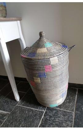 Fairtrade Opbergmand uit Senegal Zwart Medium