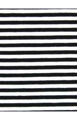11. Katoen wit zwart streep