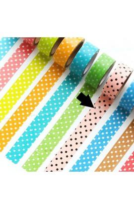 Washi tape roze polkadot