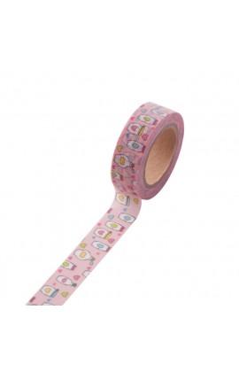 Washi tape roze flesjes